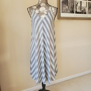 Olive & Oak Oversized Striped Tank Dress Sz. S